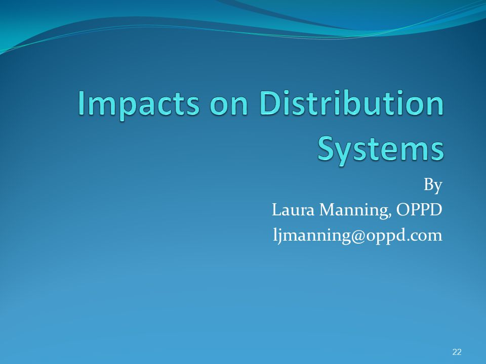 Impacts on Distribution Systems