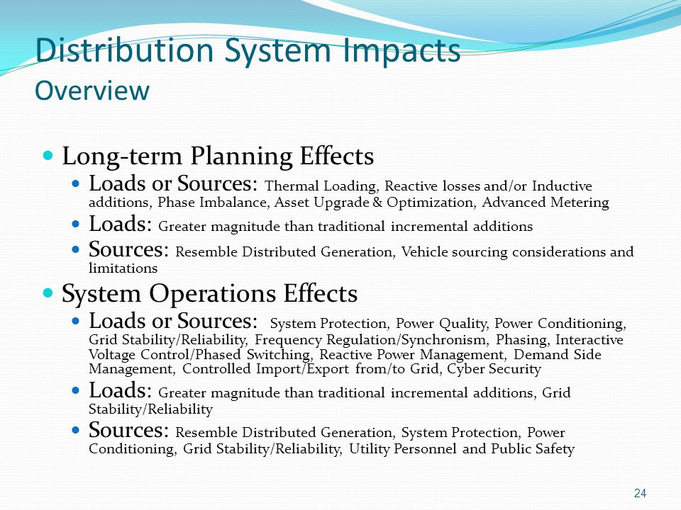 Distribution System Impacts Overview