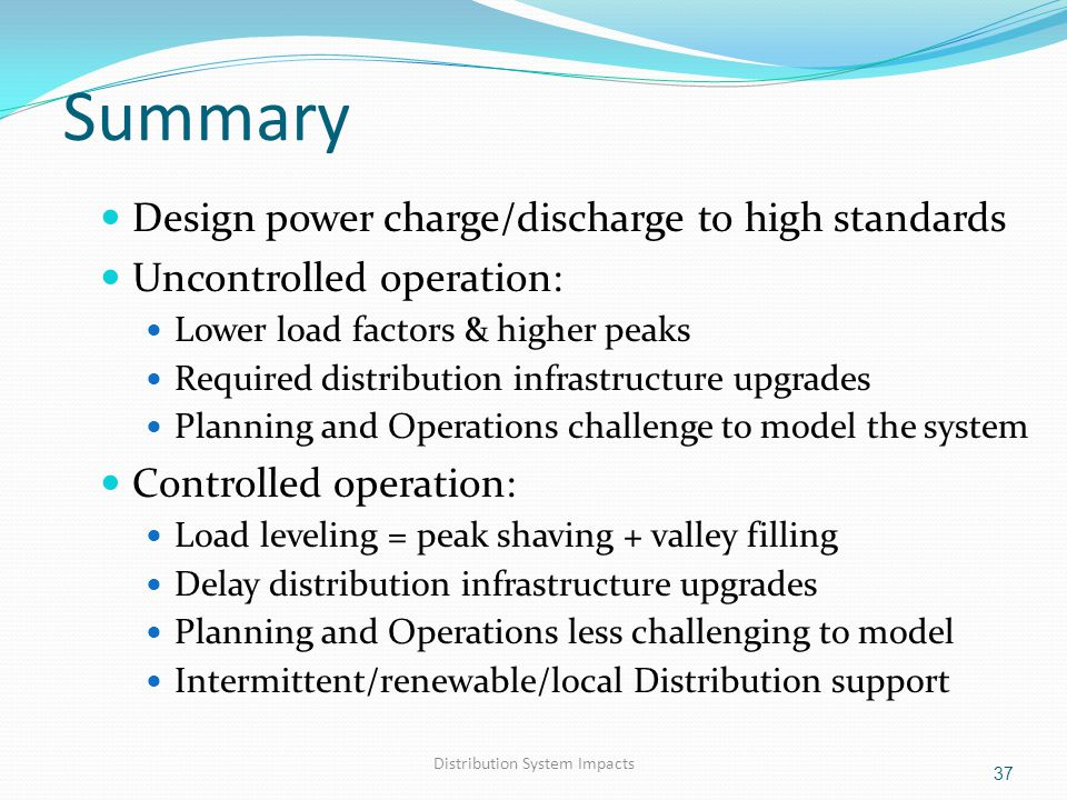 Distribution System Impacts