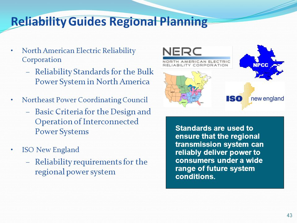 Reliability Guides Regional Planning