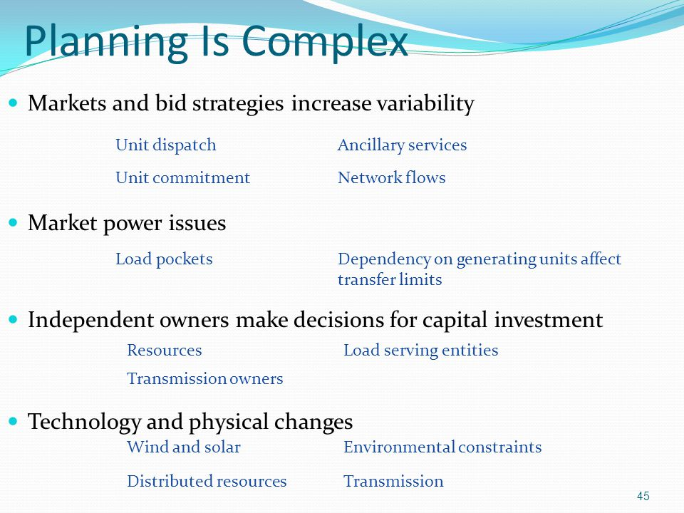 Planning Is Complex Markets and bid strategies increase variability