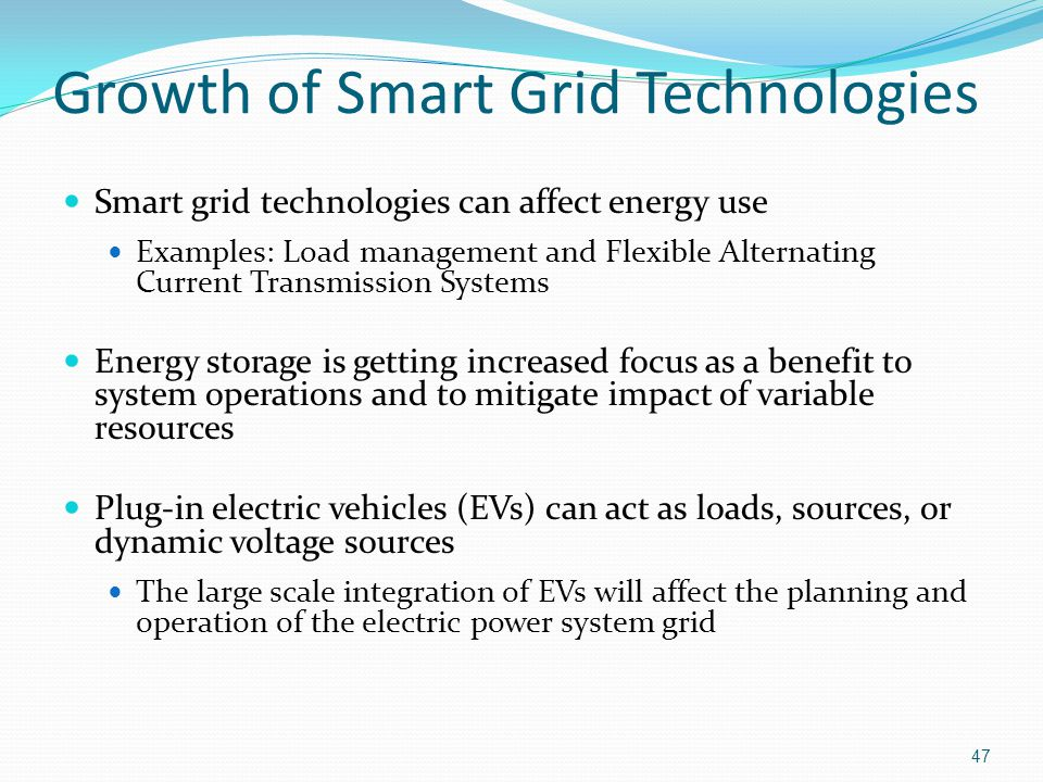 Growth of Smart Grid Technologies