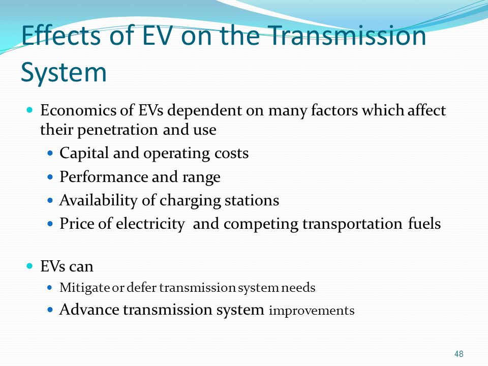 Effects of EV on the Transmission System