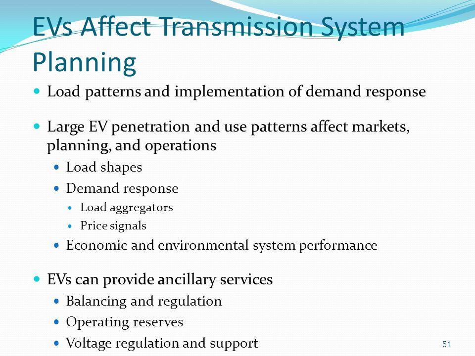 EVs Affect Transmission System Planning