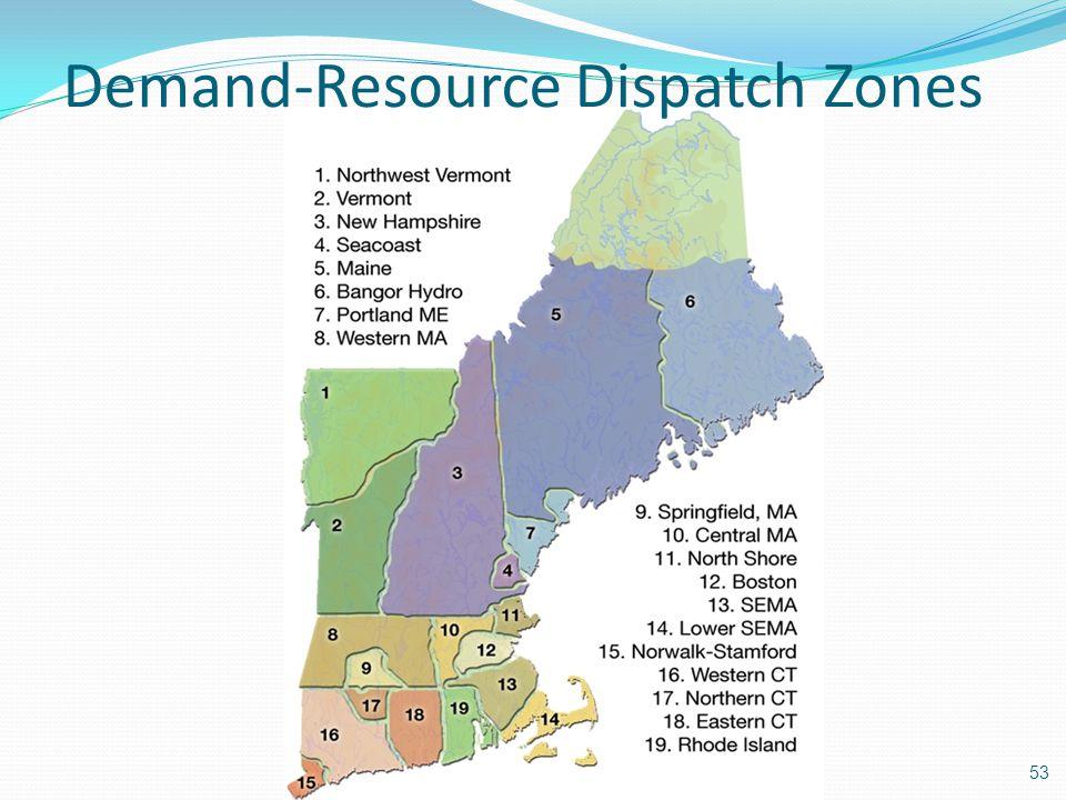 Demand-Resource Dispatch Zones
