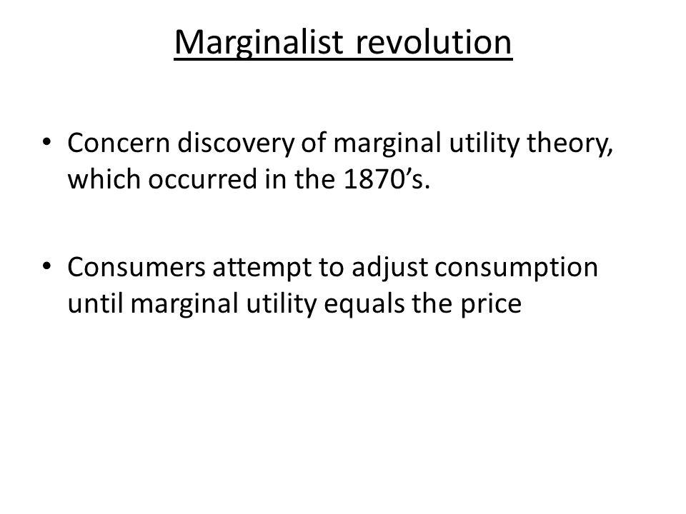 Marginalist revolution