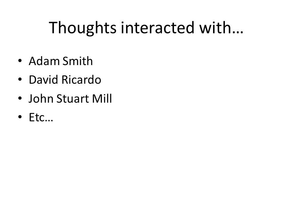 Thoughts interacted with…