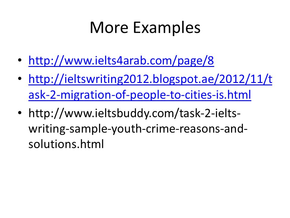 More Examples http://www.ielts4arab.com/page/8