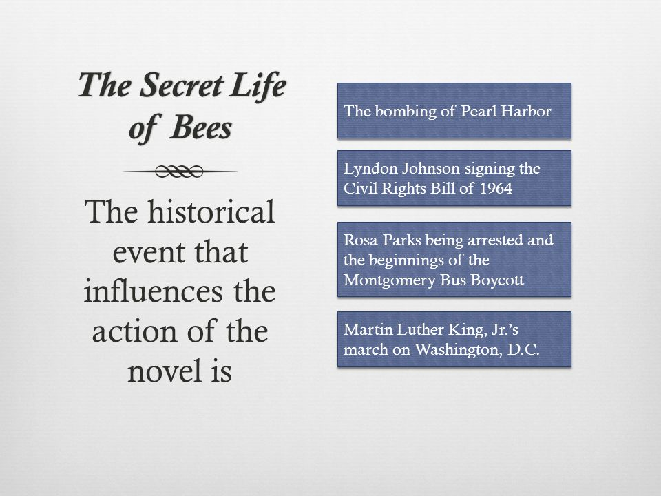 The historical event that influences the action of the novel is