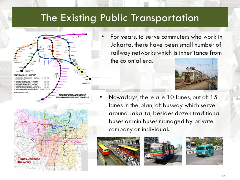 The Existing Public Transportation