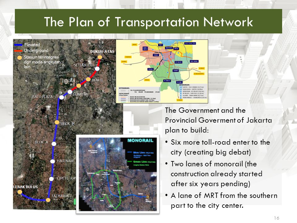 The Plan of Transportation Network