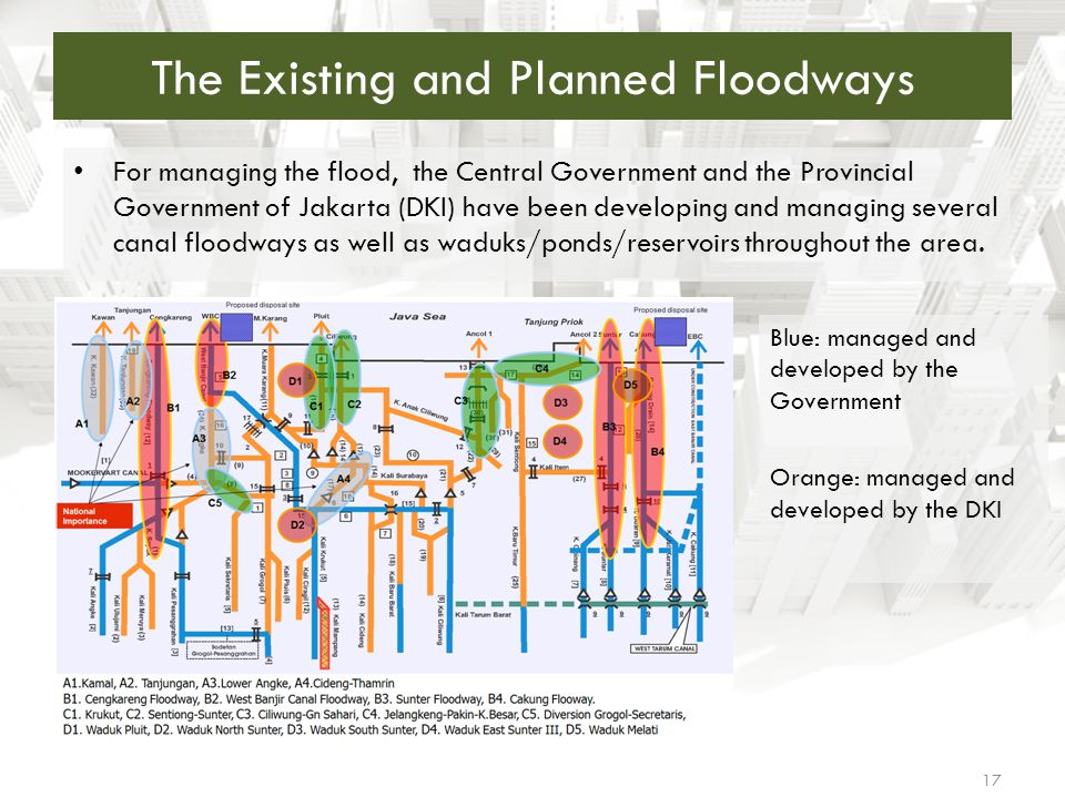 The Existing and Planned Floodways