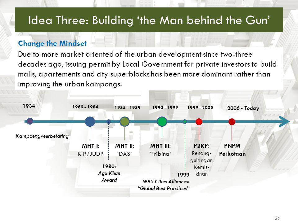 Idea Three: Building 'the Man behind the Gun'