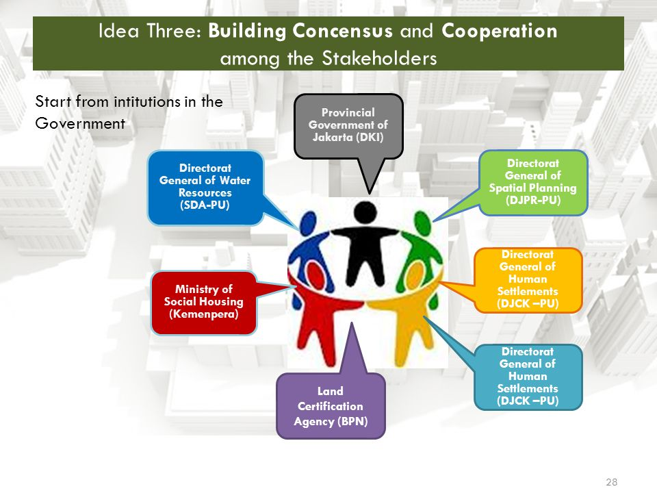 Idea Three: Building Concensus and Cooperation among the Stakeholders