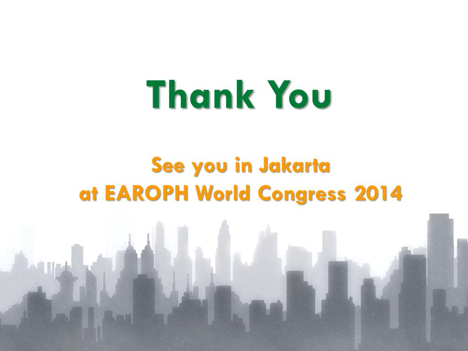 at EAROPH World Congress 2014