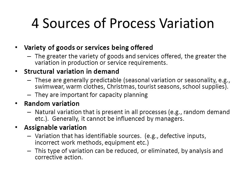 4 Sources of Process Variation
