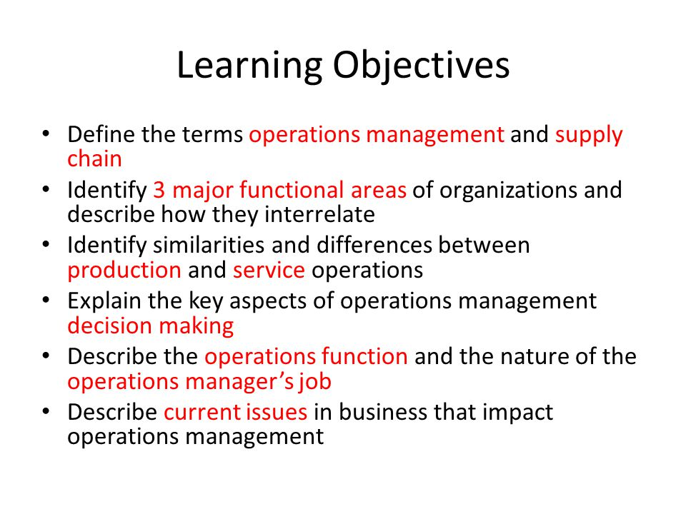 issues facing the functions of operations management Operations management is the business function that responsible to planning, organizing, coordinating and controlling the resources needed to produce a company's.