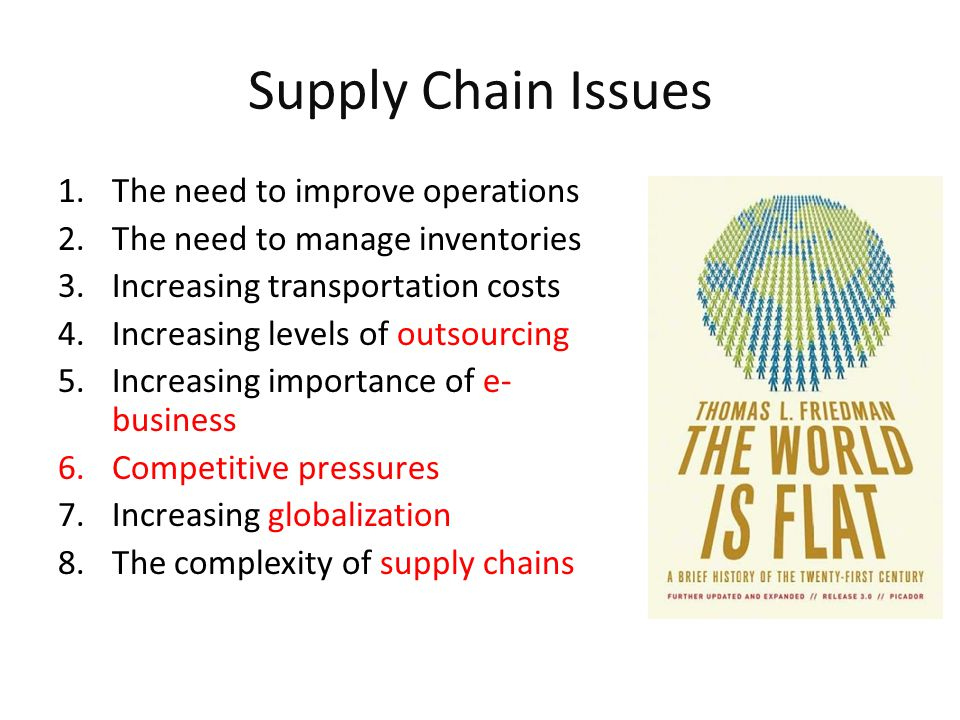 supply chain issues from canada to Supply chain management planning and modeling of the materials flow from the forest to final product helps maximize the total value generated this module presents basic information about the forest products industry in canada, explains supply chain management and forest products supply chain, and discusses issues and trends related to supply.