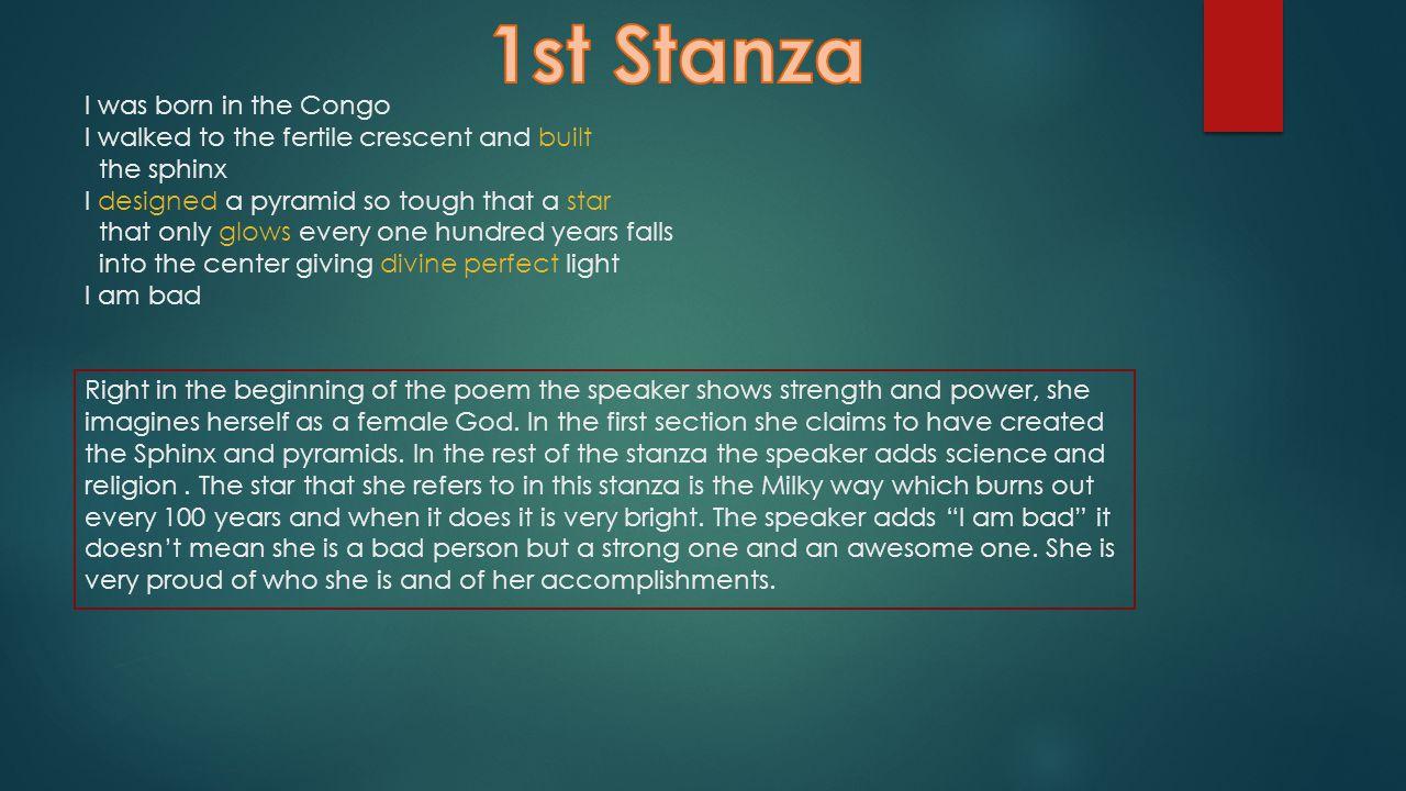 1st Stanza