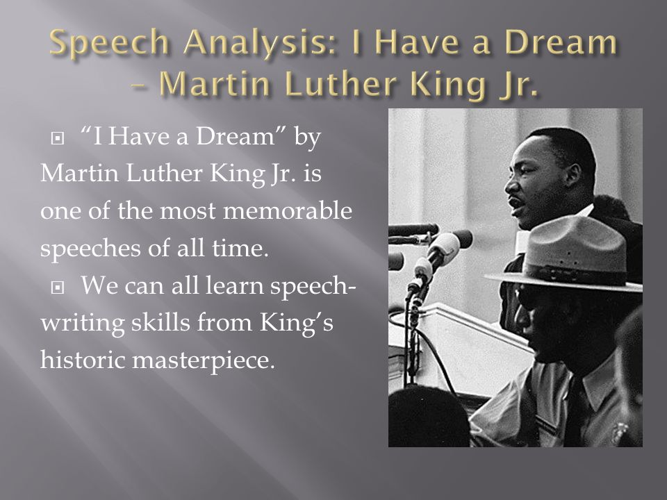 analysis martin luther kings i have a dream speech metaphor anaphora and alliteration Metaphor criticism is  i chose martin luther  king's speeches are often remembered for their powerful language and his metaphor usage this speech is.