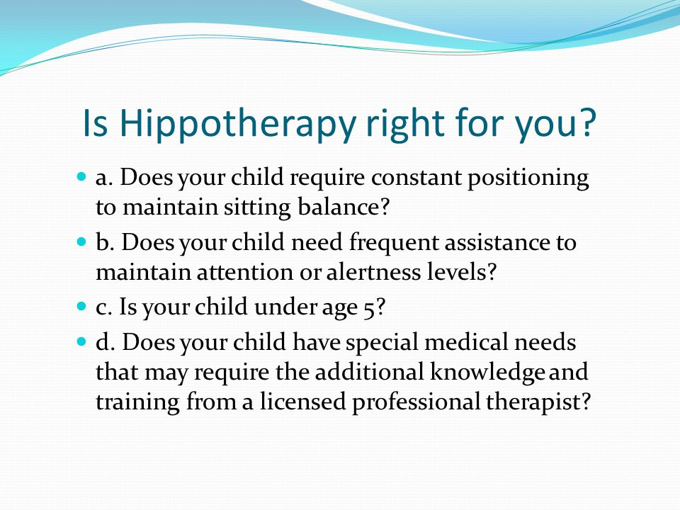 Is Hippotherapy right for you