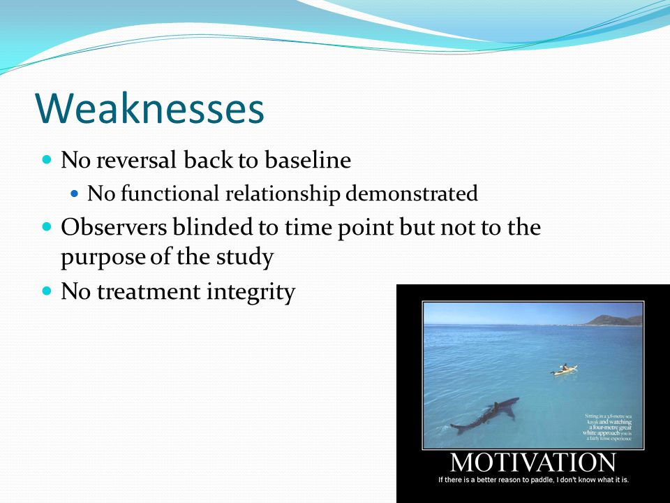 Weaknesses No reversal back to baseline