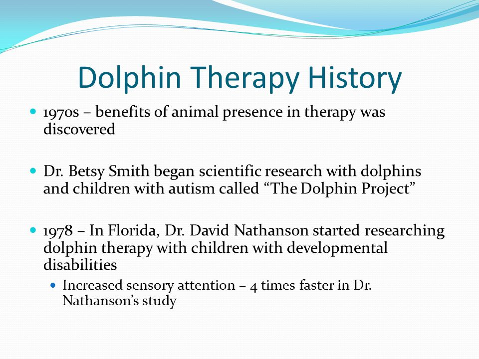 Dolphin Therapy History