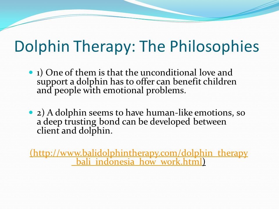 Dolphin Therapy: The Philosophies