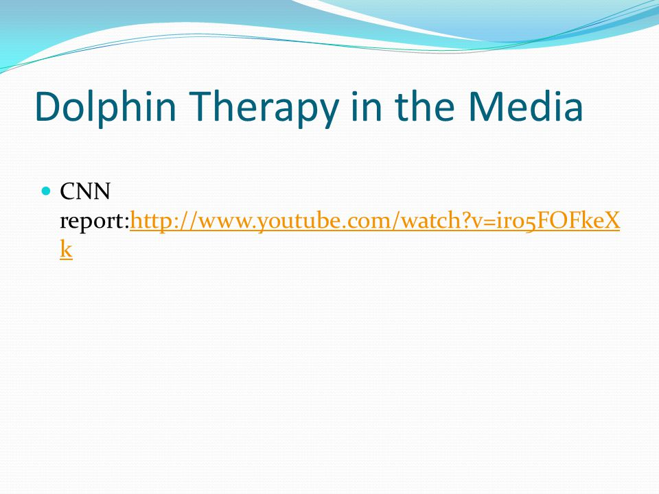 Dolphin Therapy in the Media