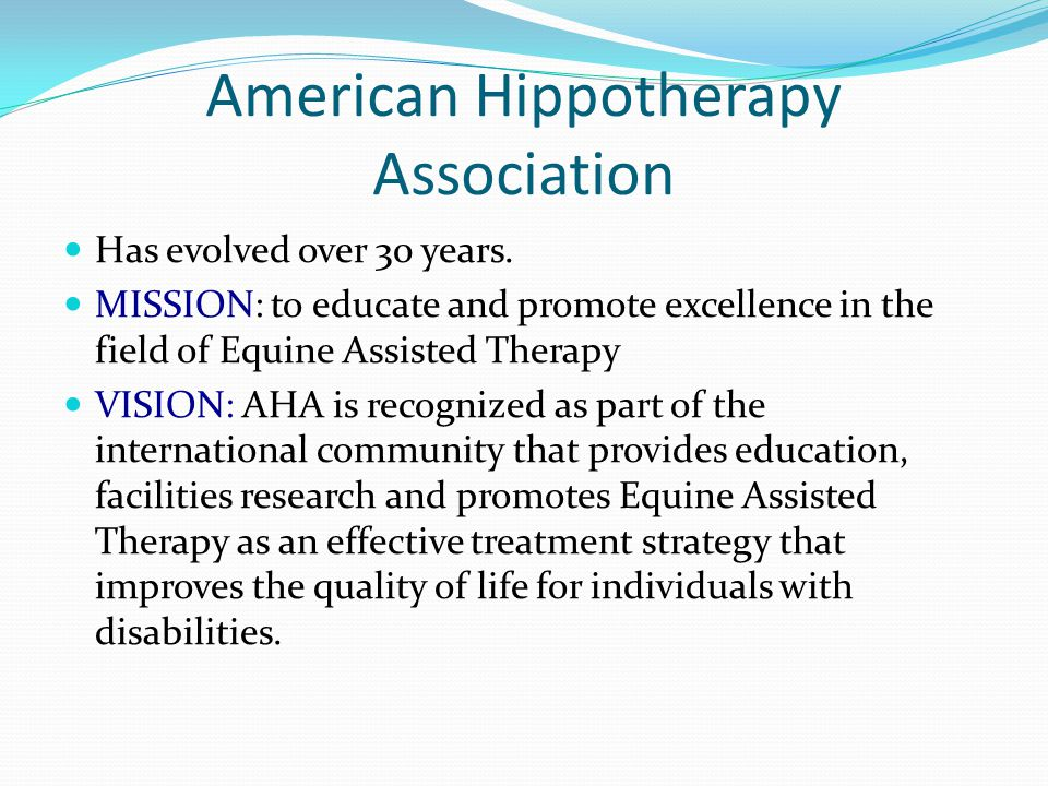 American Hippotherapy Association