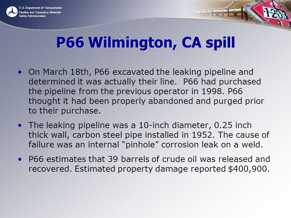 P66 Wilmington, CA spill
