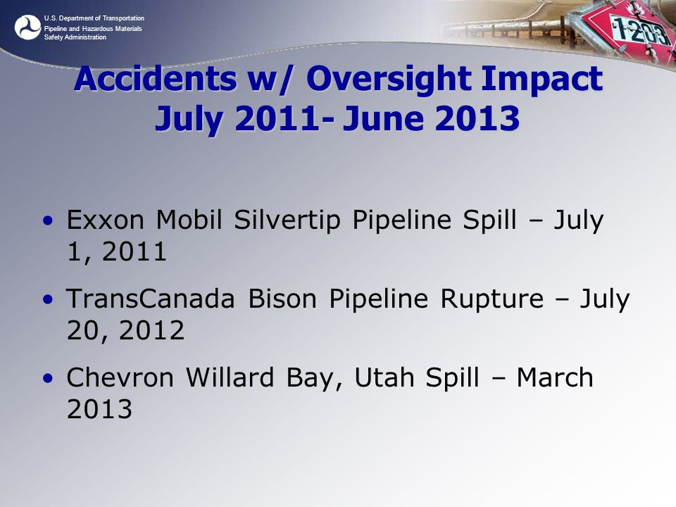 Accidents w/ Oversight Impact July 2011- June 2013