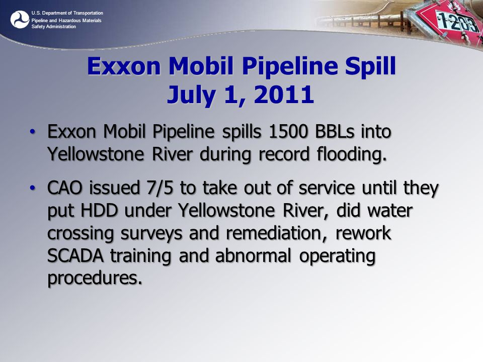 Exxon Mobil Pipeline Spill July 1, 2011