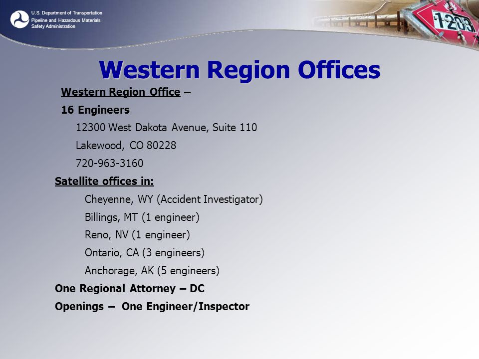 Western Region Offices