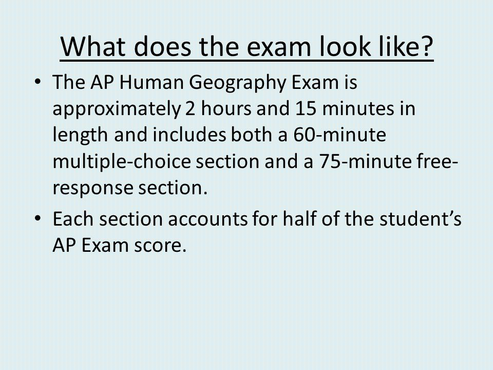 What does the exam look like