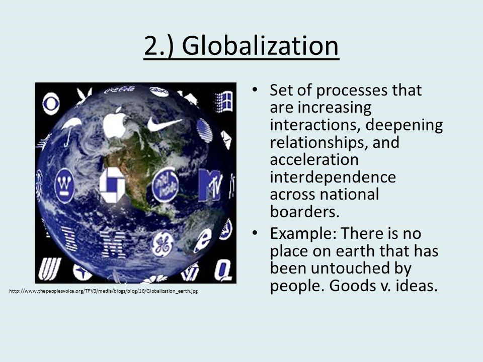 2.) Globalization