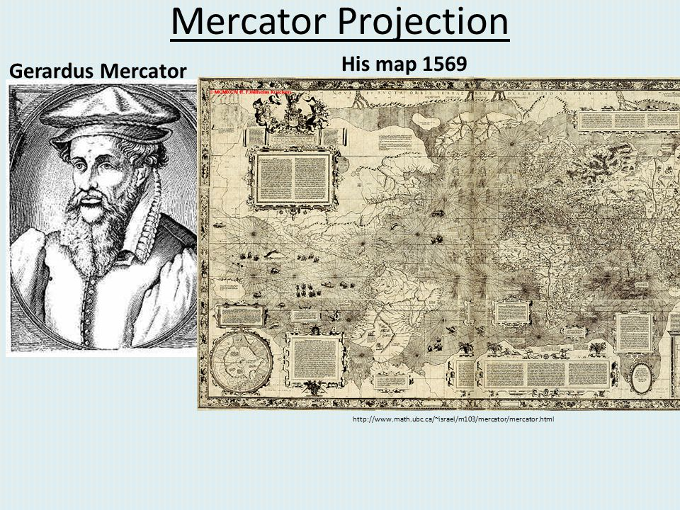 Mercator Projection His map 1569 Gerardus Mercator