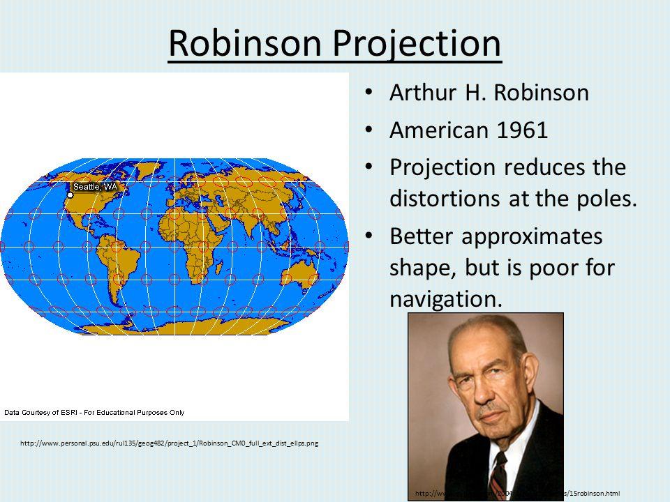Robinson Projection Arthur H. Robinson American 1961