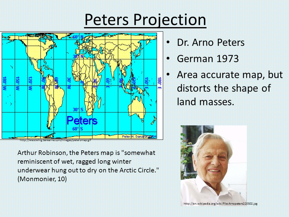 Peters Projection Dr. Arno Peters German 1973