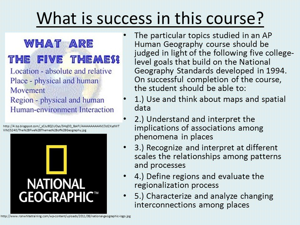 What is success in this course