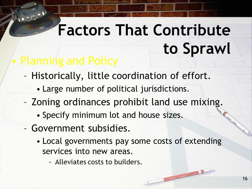 Factors That Contribute to Sprawl