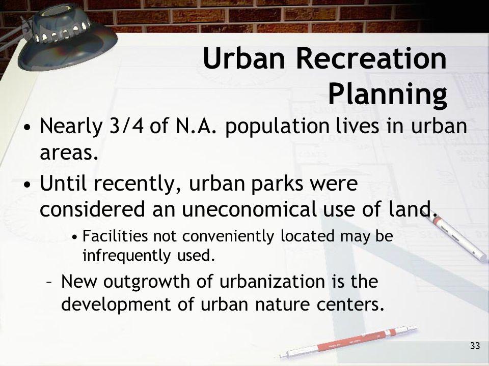 Urban Recreation Planning