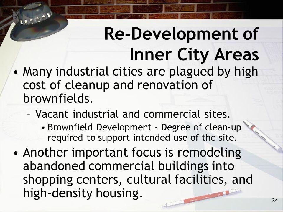 Re-Development of Inner City Areas