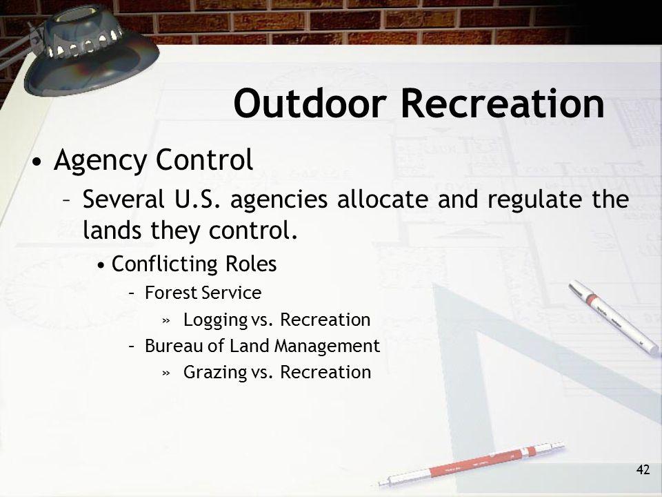 Outdoor Recreation Agency Control
