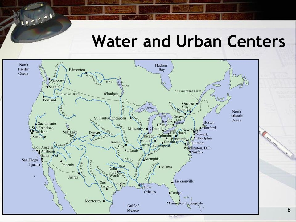 Water and Urban Centers