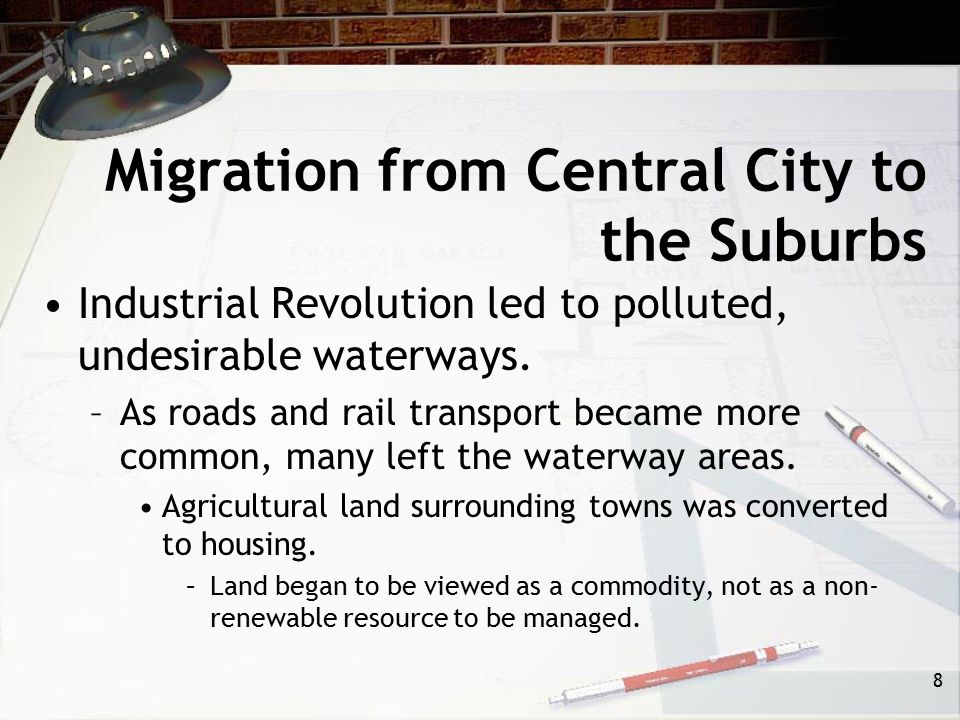 Migration from Central City to the Suburbs