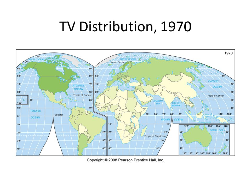 TV Distribution, 1970