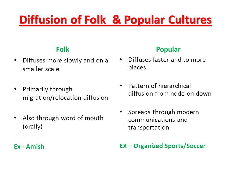 Diffusion of Folk & Popular Cultures