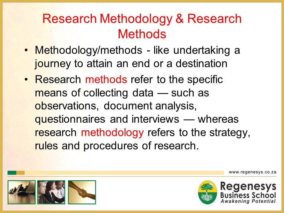 Research Methodology & Research Methods