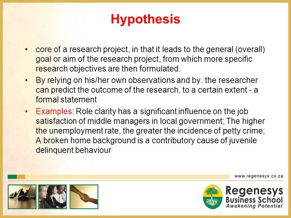 Hypothesis